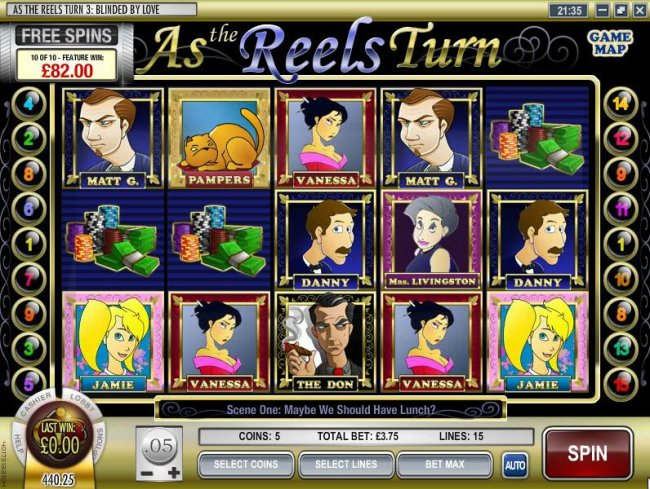 As the Reels Turn # 3: Blinded By Love by Free Slots 247