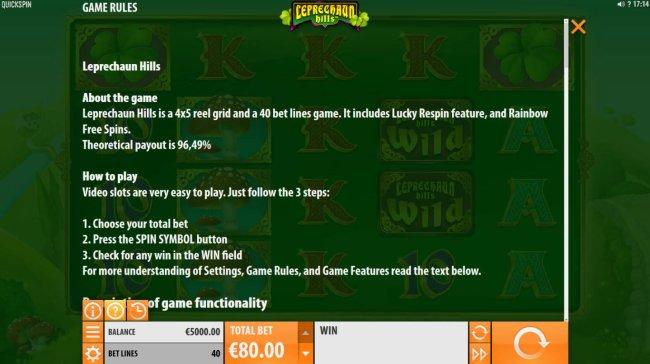 Free Slots 247 image of Leprechaun Hills
