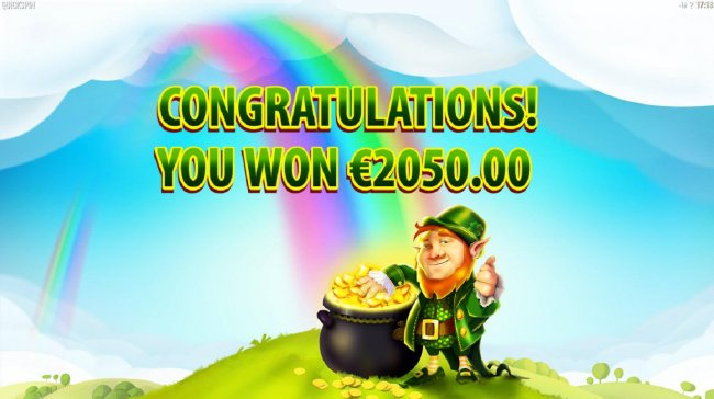 The Rainbow Free Spins feature pays out a total of 2050.00 - Free Slots 247