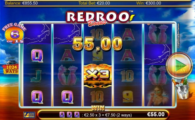 X3 wild multiplier triggers a 55.00 payout during the free spins feature. - Free Slots 247