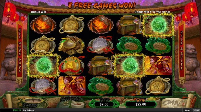 Three or more Dragon Pearl scatter symbols anywhere on the reels triggers the Bonus game. by Free Slots 247