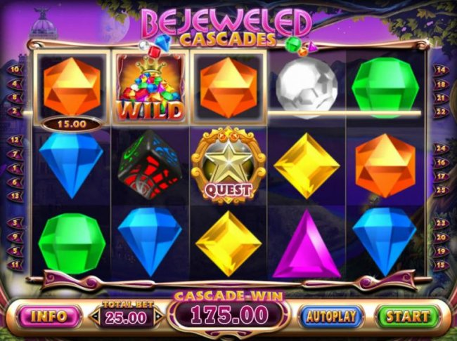 Free Slots 247 - Winning combinations disappear from the reels allowing new symbols to drop into place for a chance at enchnced winnings.