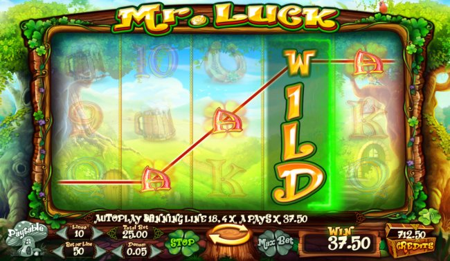 Stacked wild triggers a four of a kind by Free Slots 247