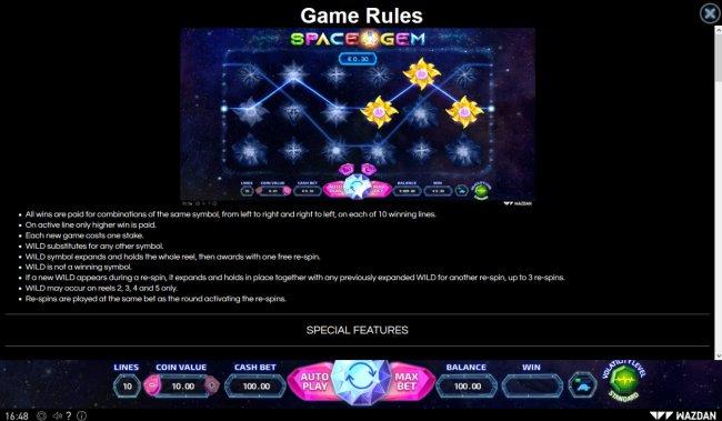 Space Gem by Free Slots 247