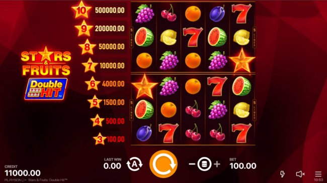 Stars & Fruits Double Hit by Free Slots 247