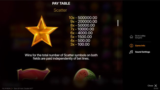 Images of Stars & Fruits Double Hit