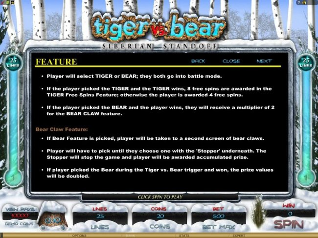 Tiger vs. Bear screenshot