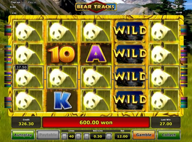 A 600.00 big win triggered by multiple winning paylines during the Free Spins feature. by Free Slots 247