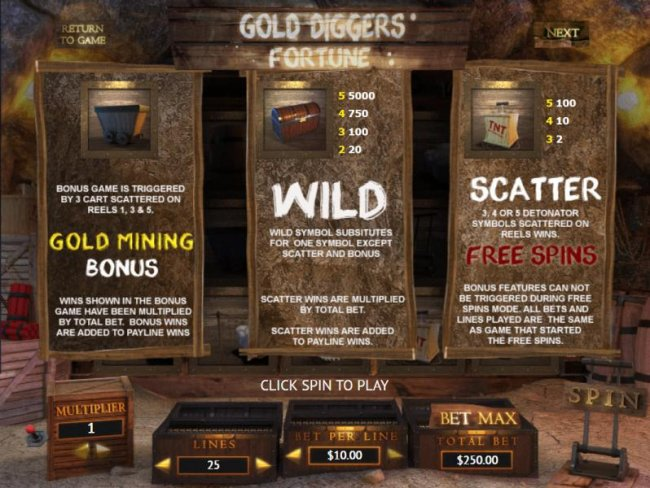 Gold Diggers' Fortune by Free Slots 247