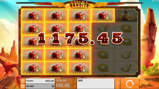 Stacked Dynamite symbols triggers an 1175 big win - Free Slots 247