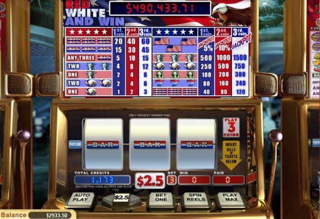 Red, White and Win screenshot