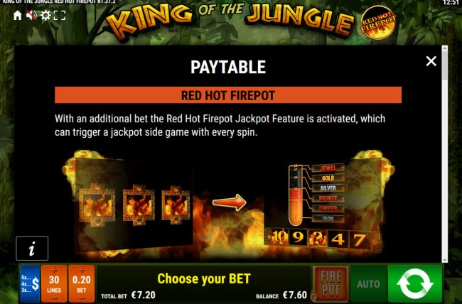 King of the Jungle Red Hot Firepot by Free Slots 247
