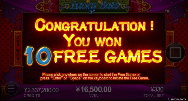Lucky Bats by Free Slots 247