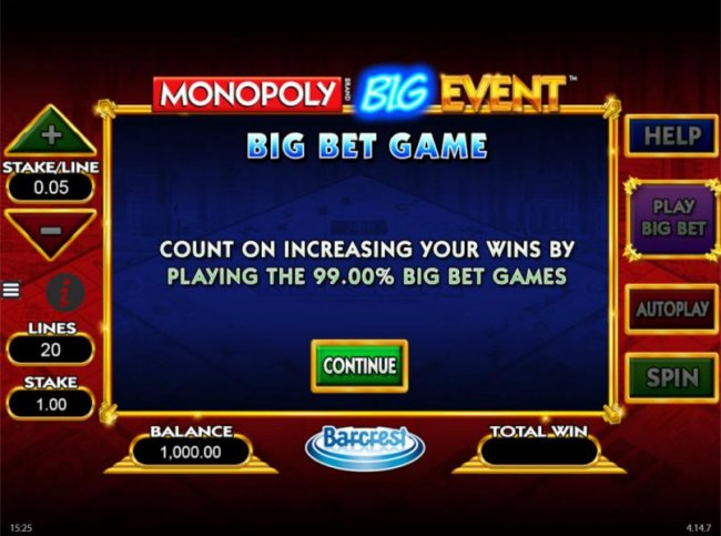 Features Big Bet Game. Count on increasing your wins by playing the 99.00% Big Bet Games - Free Slots 247