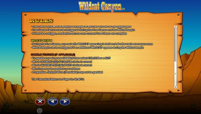 Wildcat Canyon by Free Slots 247