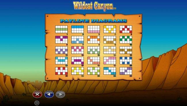 Payline Diagrams 1-25 - Free Slots 247
