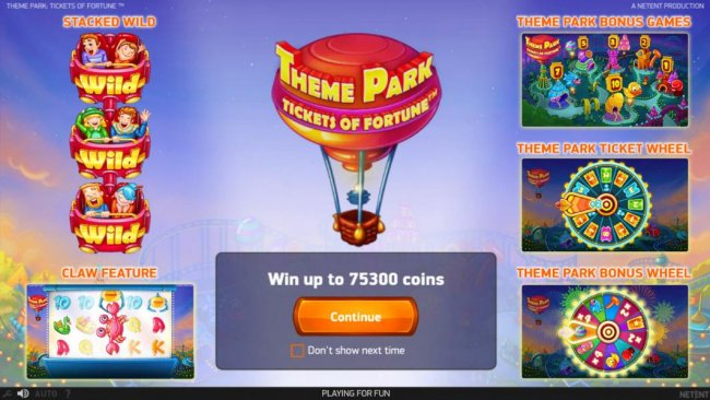 Free Slots 247 image of Theme Park Tickets of Fortune