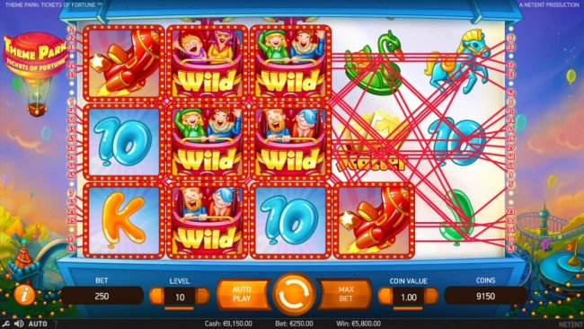 Stacked wilds on reels 2 and 3 trigger multiple winning paylines and a 5,800.00 big win! by Free Slots 247