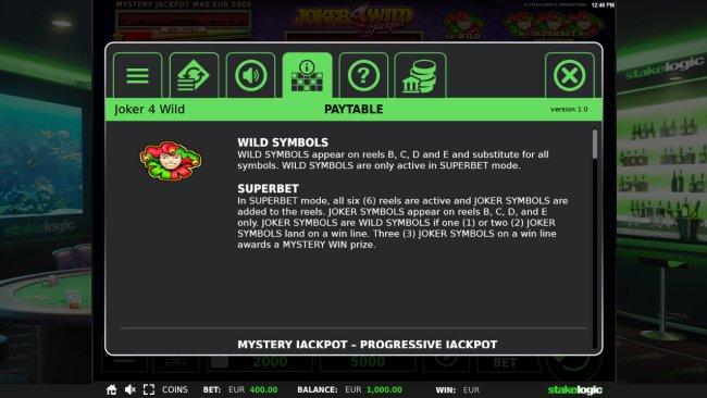 Joker 4 Wild screenshot