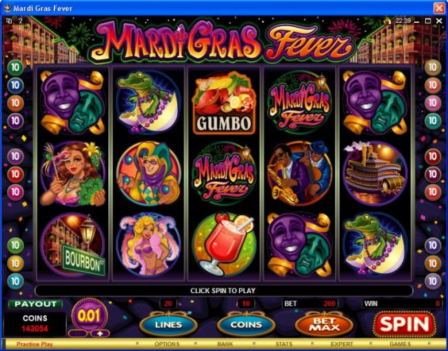 Mardi Gras Fever by Free Slots 247