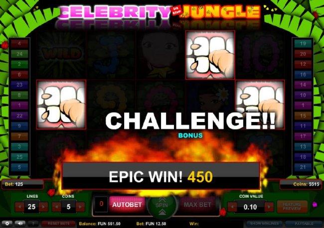 Three bonus round symbols triggers the Challange Bonus Feature - Free Slots 247