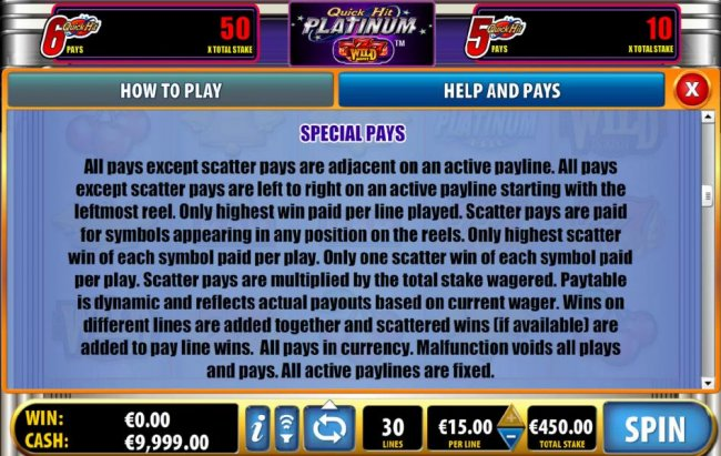 Free Slots 247 - special pays