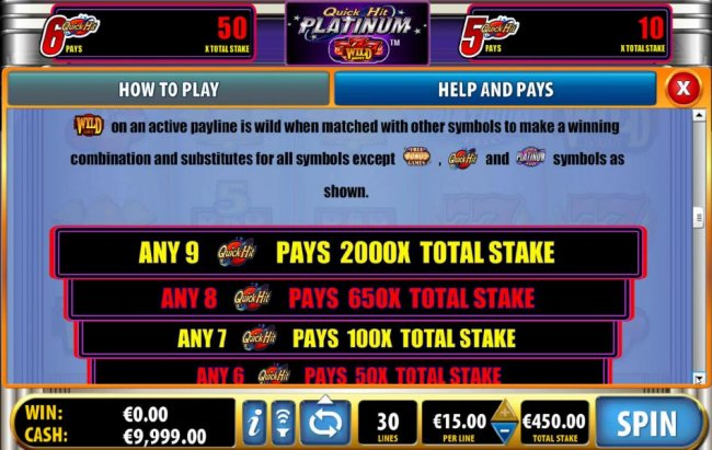 special pays continued - Free Slots 247
