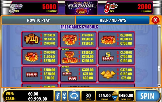 Quick Hit Platinum by Free Slots 247