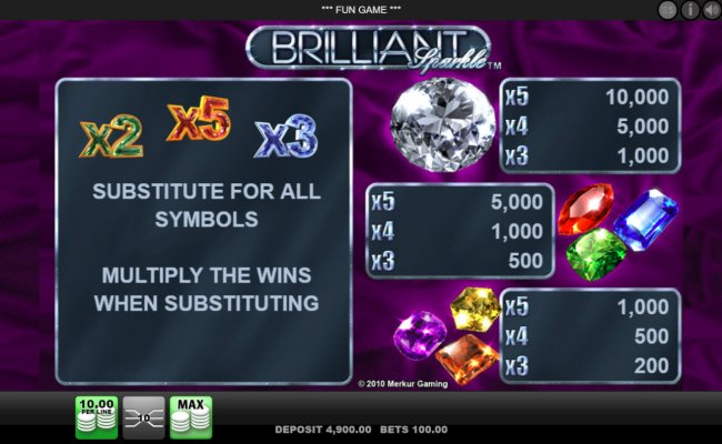 Brilliant Sparkle by Free Slots 247