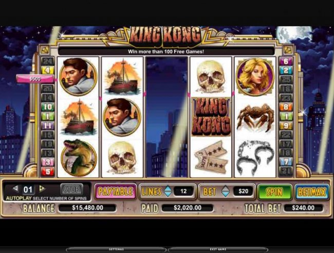 Free Slots 247 image of King Kong
