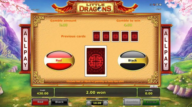 Free Slots 247 - Red or Black Gamble feature