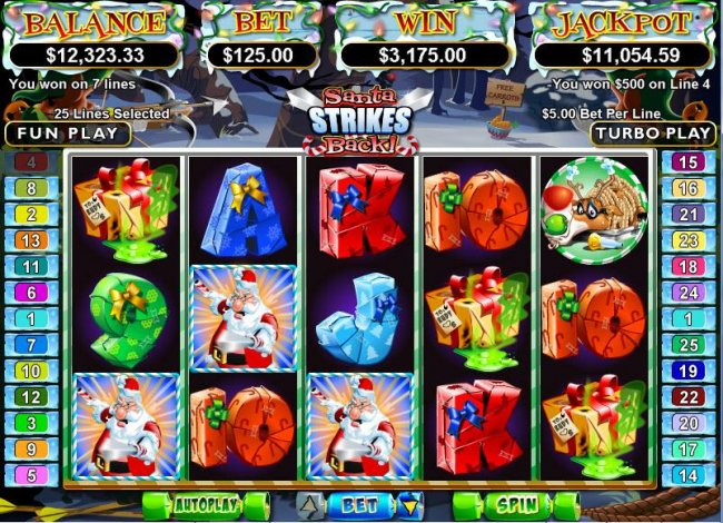 Santa Strikes Back by Free Slots 247