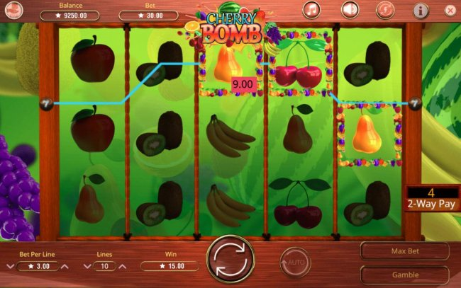 A winning payline triggers from either side of the reels during the 2-Way Pay feature. - Free Slots 247