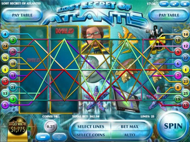 Free Slots 247 image of Lost Secret of Atlantis