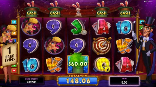 A $360 cash prize awarded by Free Slots 247