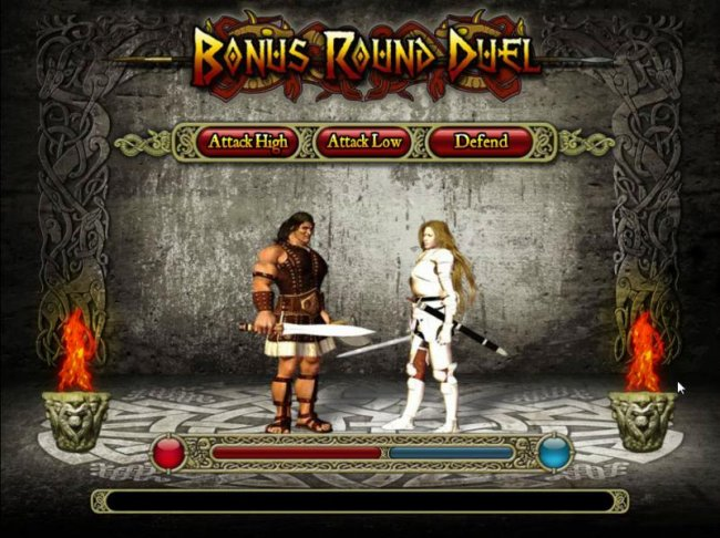 bonus round duel game board - select the order of your attack style - Free Slots 247