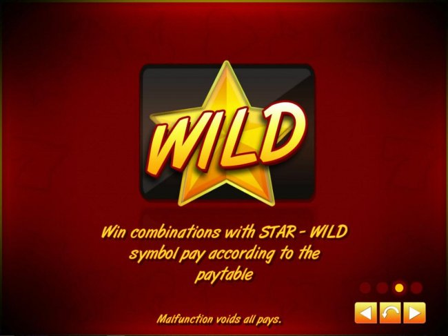 Free Slots 247 - Star Wild - Win combinations with Star - Wild symbol pay according to the paytable.