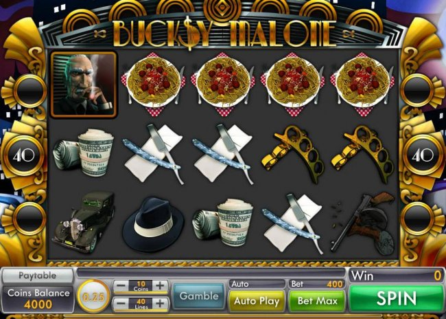 Main game board featuring five reels and 40 paylines with a $15,000 max payout. - Free Slots 247