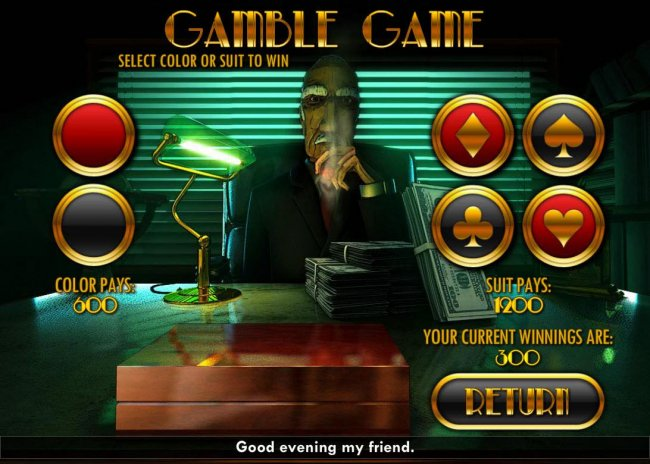 Gamble Feature - To gamble any win press Gamble then select Red or Black or Suit by Free Slots 247