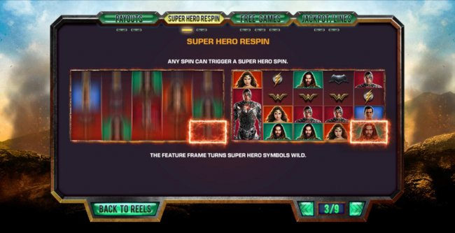 Super Hero Respin Rules - Free Slots 247