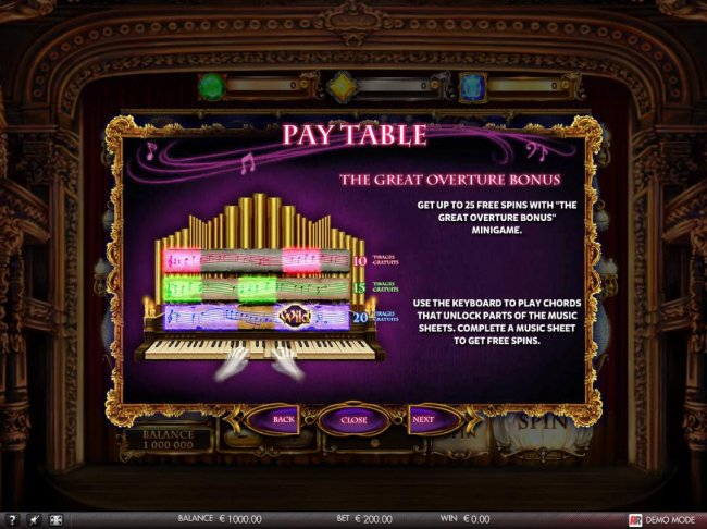 Free Slots 247 image of The Secret of the Opera