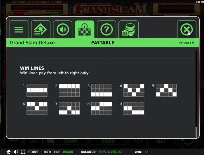 Free Slots 247 - Paylines 1-9