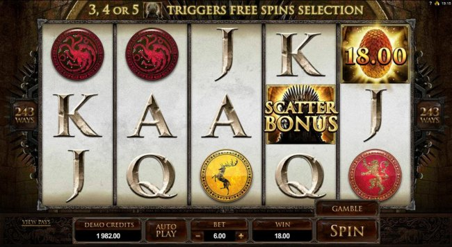 example of a typical winning spin - Free Slots 247