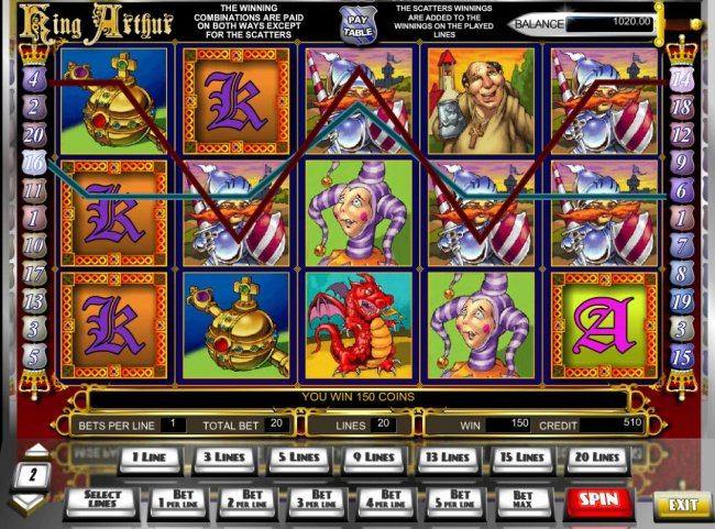 A pair of winning line triggers a 150 coin payout. - Free Slots 247