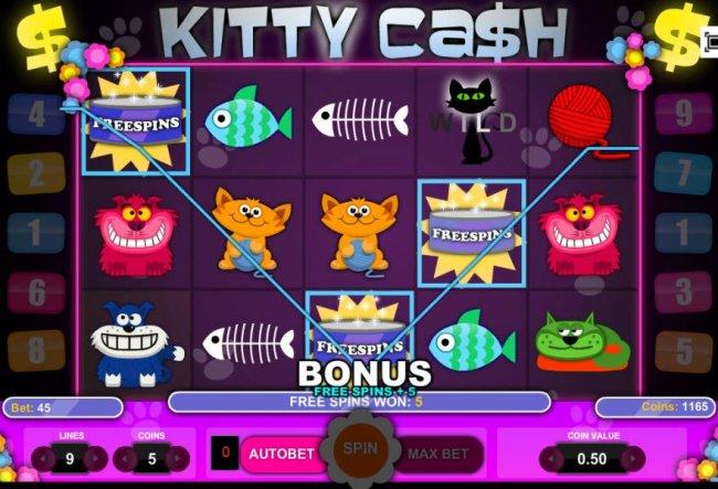 Free Spins Bonus triggered by Free Slots 247