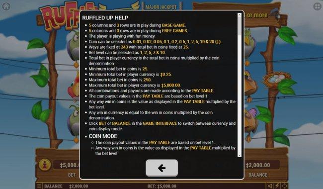 Free Slots 247 image of Ruffled Up