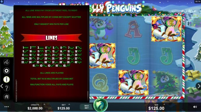 Holly Jolly Penguins by Free Slots 247
