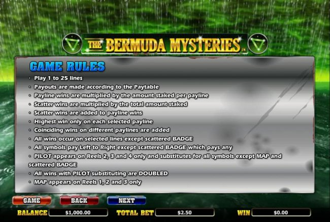 Free Slots 247 image of The Bermuda Mysteries