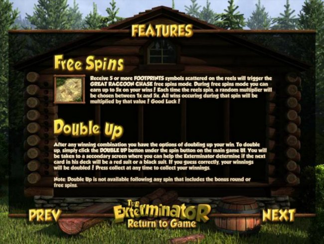 free spins and double up feature rules - Free Slots 247
