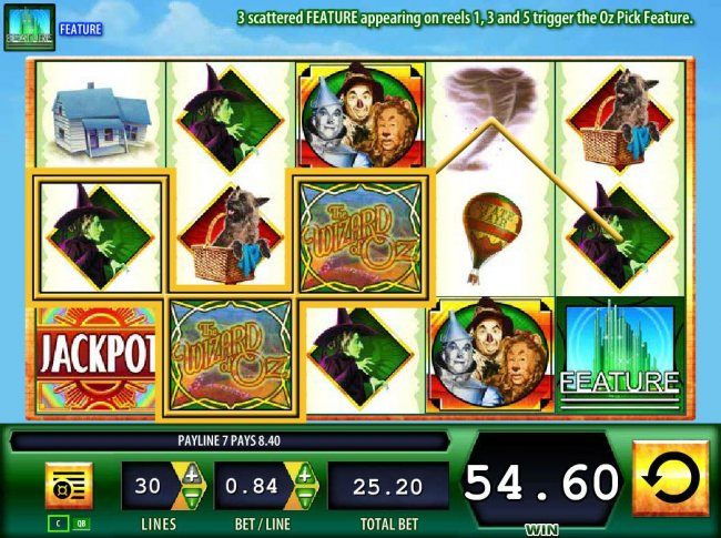 A pair of winning paylines by Free Slots 247